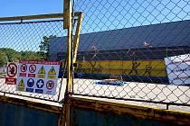 Výstavba tréninkové sportovní haly Klimeška v Kutné Hoře - květen 2020.