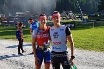 Martina a Michal Pavlíkovi z Kutné Hory na ME Spartan Race 2019 v Dolomitech.