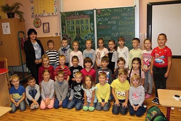 Základní škola Masarykova vČáslavi, třída 1.A. paní učitelky Mirky Jílkové.