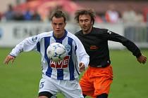 Z utkání II. ligy Čáslav - Fulnek 2:0, úterý 16. září 2008