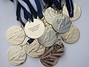 Zlaté medaile pro okresního přeborníka mladších žáků v sezoně 2016/2017.