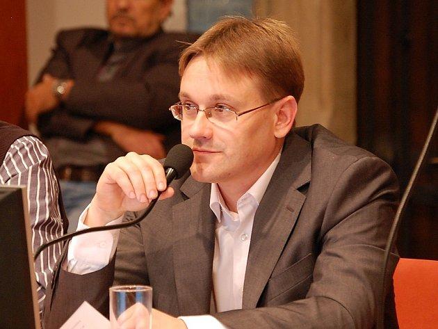 Starosta Kutné Hory Martin Starý na zastupitelstvu 16. prosince 2014.