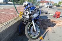 Nehoda motocyklu značky Yamaha
