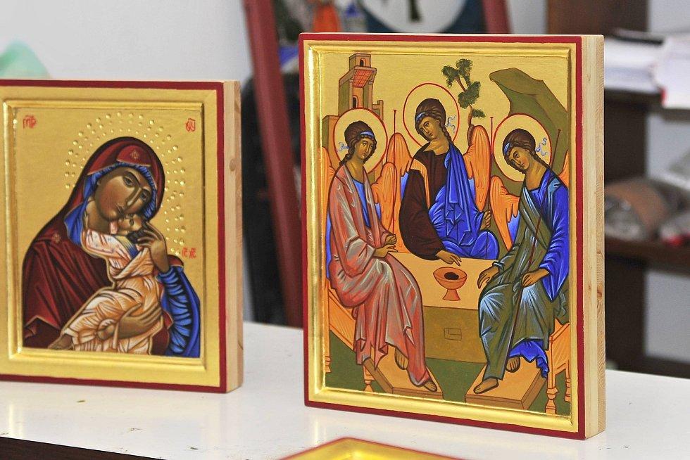 Kurzu tvorby ikon se zúčastnili zájemci na začátku srpna v sázavském klášteře.