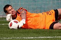 Milan Švenger chytil proti Čáslavi penaltu.