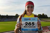 Kutnohorská atletka Dominika Nováková skončila na 8. místě atletického Mistrovství ČR starších žákyň v běhu na 200 metrů překážek.