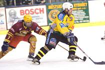 Z utkání hokejové kvalifikace o druhou ligu Kutná Hora - VTJ Ještěd Liberec (6:4).