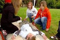 Hlídky mladých zdravotníků pod Vlašským dvorem