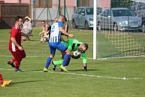 Z fotbalového utkání okresního přeboru Církvice - Sedlec