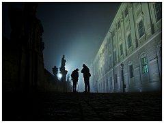 Ze společného fotografování noční Kutné Hory.