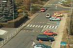 Záběr z kamery v Palachově ulici v Kutné Hoře.