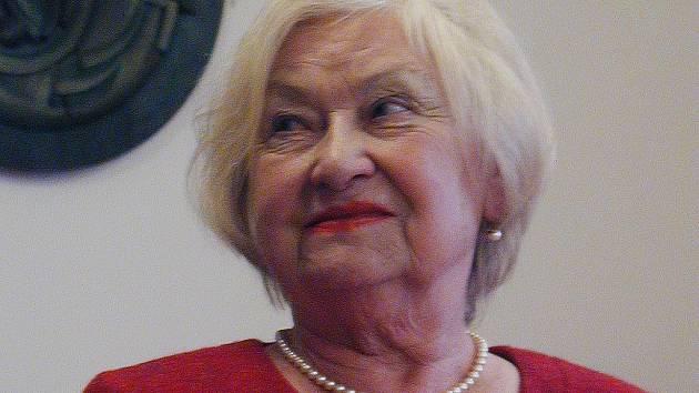 Moderátorka Akademie třetího věku Jindřiška Marková.