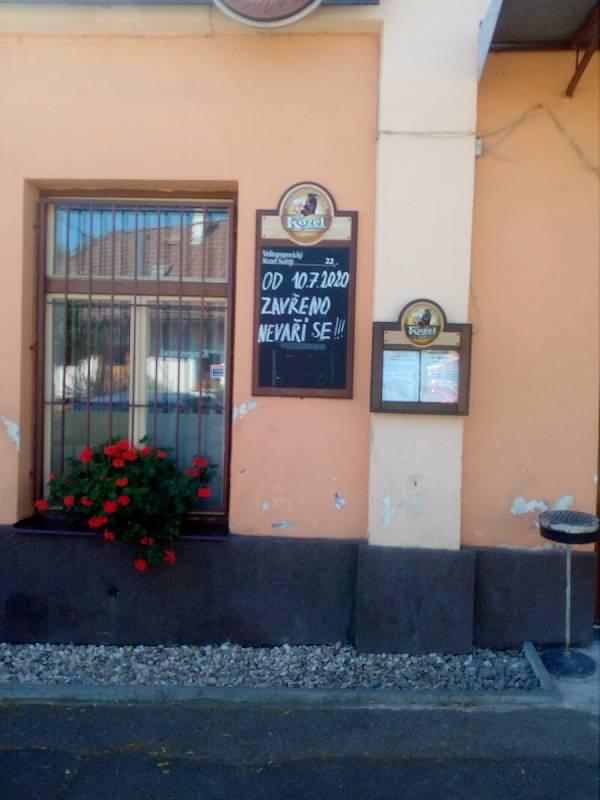 Restaurace U Nevolů v Křeseticích.