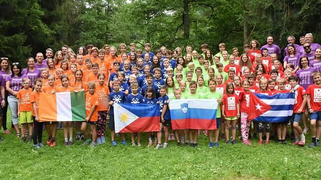 Dětský sportovní tábor pořádaný spolkem Olympia Kutná Hora v rekreačním středisku Želivka na Vysočině.