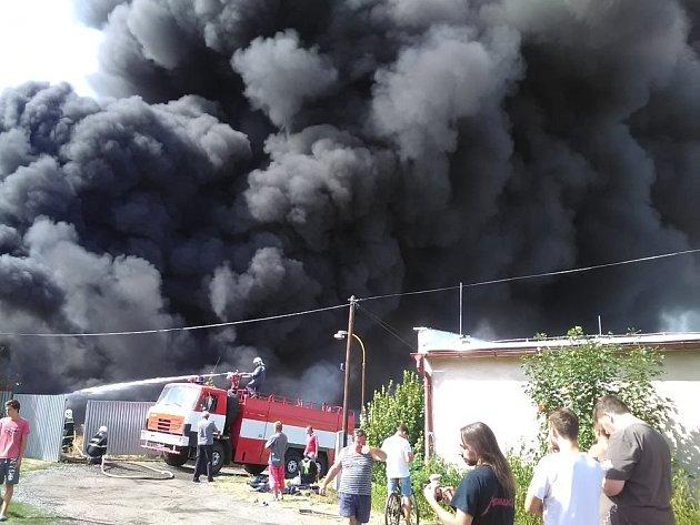 Požár na Karlově vKutné Hoře.