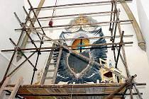 Freska objevená při rekonstrukci v čáslavském kostele