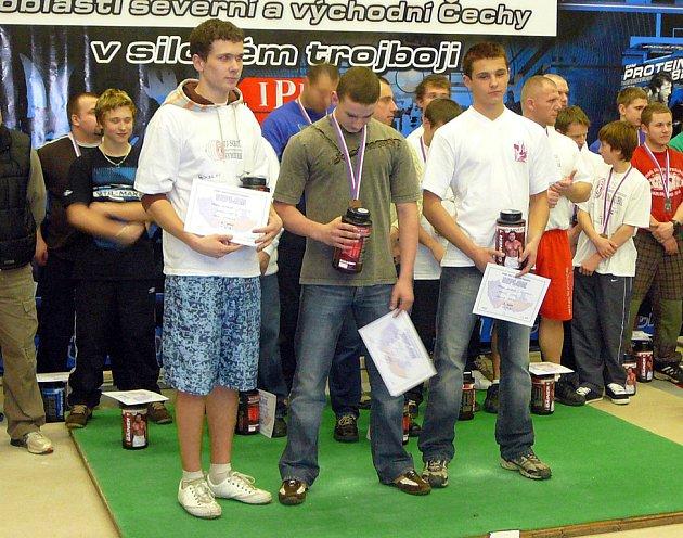 Michal Kavánek (vpravo) celkově 3. místo z dorostu