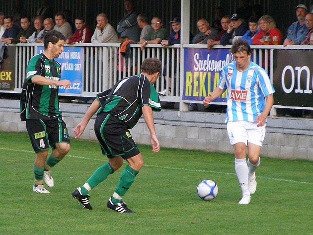 Z utkání druhé fotbalové ligy Čáslav - Sokolov (0:1)