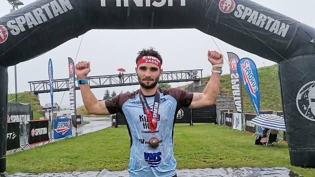 Olympia Spartan Training Kutná Hora v Liberci. Na snímku vítěz Sprintu Jakub Vrbenský.
