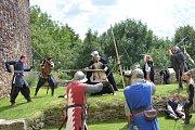 V Malešově se konaly na tvrzi středověké dny s bitvou.