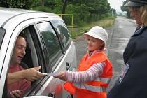 Dopravně – preventivní akce Jezdíme s úsměvem v Červených Janovicích.