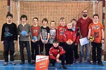 Tým mladších žáků Sparty Kutná Hora na turnaji v Novém Veselí.
