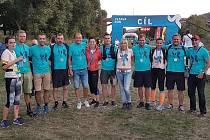 Tým Kutnohoráků na Vltava Run 2020.