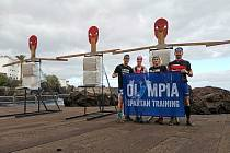 Olympia Spartan Training v Tenerife. Zleva Michal Pavlík, Martina Pavlíková, Monika Andělová a Jakub Vencl.