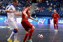 Futsalový reprezentant Michal Seidler (v červeném).