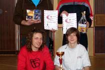 Vítězný tým TJ SLavoj Vrdy (Nahoře zleva: Stibůrek, Frank. Dole zleva: Havránek, Fofoňka.)