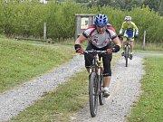 U rozhledny Bohdanka se závodilo na kolech.