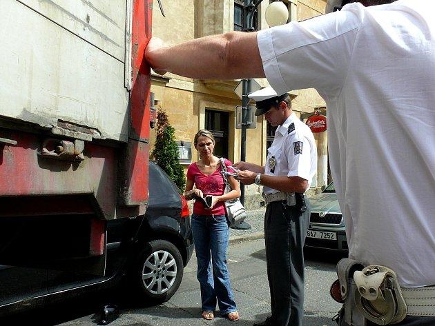 Nehoda v Lierově ulici v Kutné Hoře