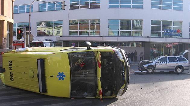 Z místa dopravní nehody.