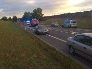 Tragická dopravní nehoda na obchvatu Čáslavi v sobotu 7. července 2018.