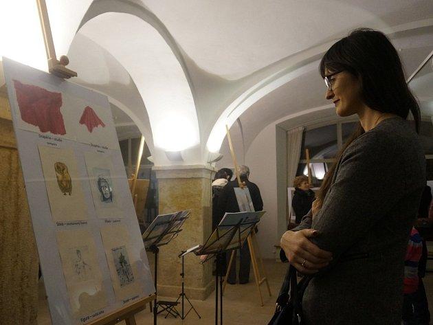 Výstava děl z kurzu malování při Rodinném centru Špalíček v Kutné Hoře