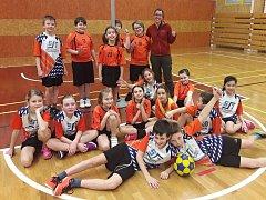 Minižáci korfbalového týmu Respo Kutná Hora.