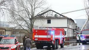 Požár městské ubytovny v Kutné Hoře 1. ledna 2021