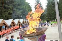 Na sportovním táboře SKP Olympia vzplanul olympijský oheň.