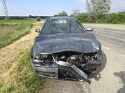 U Záboří nad Labem došlo ke střetu dvou vozidel