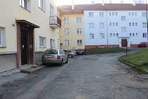 Vnitrobloky v Čáslavi, ulice B. Němcové a Jiřího z Poděbrad