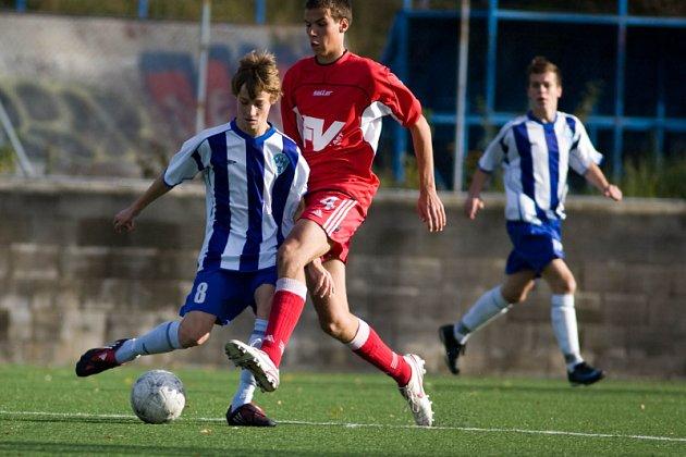 Z utkání divize dorostu ml. dorost Čáslav - D. Králové, sobota 1. listopadu 2008