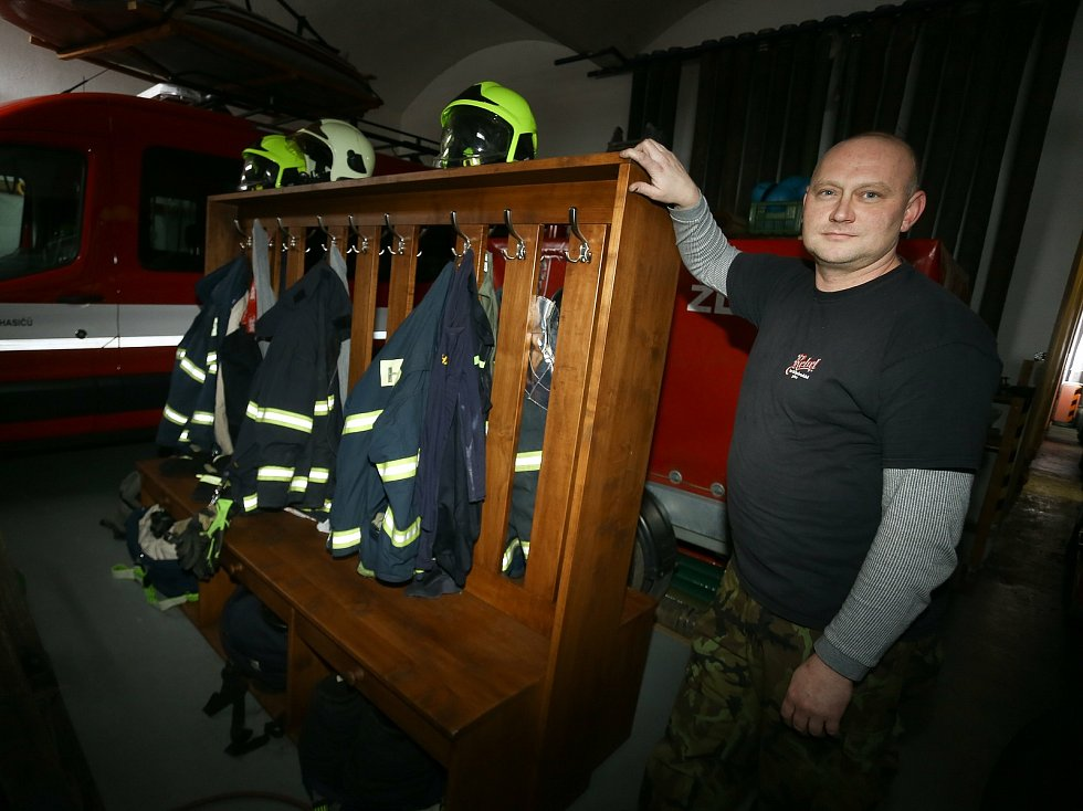 Velitel žlebské jednotky sboru dobrovolných hasičů Václav Fiala.