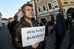 Demonstrace proti premiérovi Babišovi v Kutné Hoře.