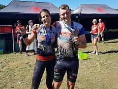 Martina Fabiánová a Michal Pavlík v cíli Spartan Super.