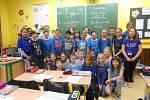 Na základní škole T. G. Masaryka měli modrý den.