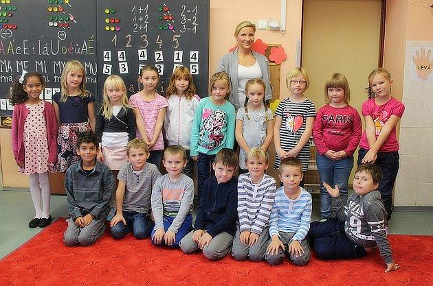 První ročník Základní škola Malešov střídní učitelkou Janou Hájkovou.