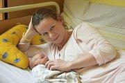 Martin Bělík se narodil 1. května s váhou 3 240 gramů a mírou 49 centimetrů. Jeho rodiče, Ludmila Žáková a Petr Bělík, si svého synka odvezou do Zruče nad Sázavou.