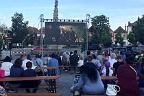 Letní kino na náměstí Jana Žižky z Trocnova v Čáslavi.