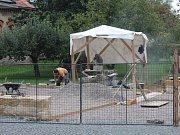 Rekonstrukce infocentra v Sedlci.