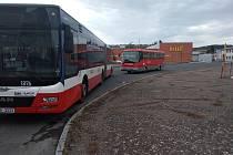 Autobusové nádraží v Kutné Hoře.